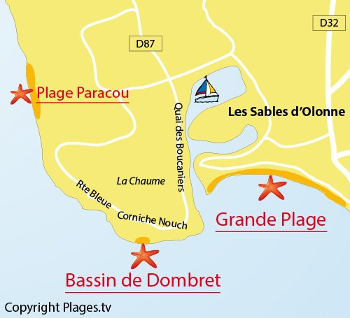 Map of the Bassin de Dombret in La Chaume - Les Sables d'Olonne
