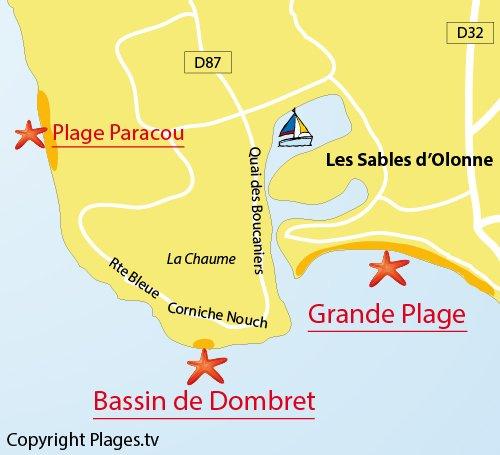 Plan du bassin de Dombret à La Chaume - Les Sables d'Olonne