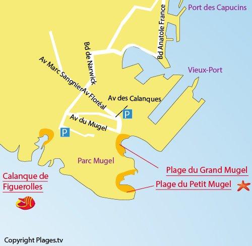 Plan de la calanque de Figuerolles à La Ciotat