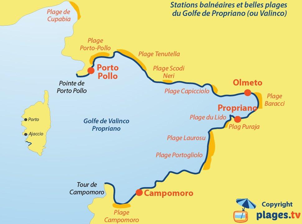 Où se baigner dans le golfe de Propriano Valinco