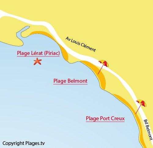 Mappa della Spiaggia di Belmont - La Turballe