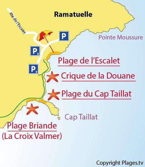 Mappa Spiaggia del Cap Taillat - Ramatuelle