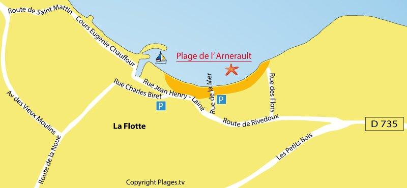 Plan de la Flotte sur l'Ile de Ré