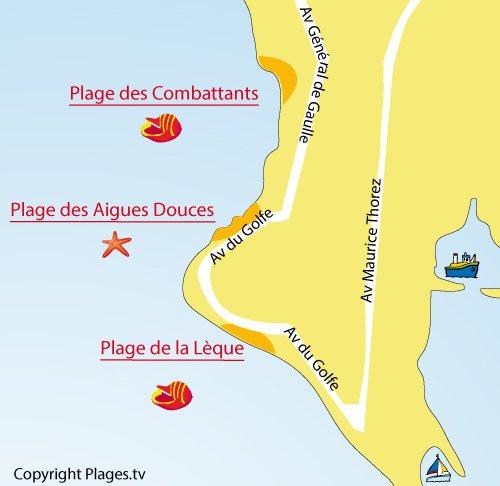 Mappa della Spiaggia della Lèque a Port de Bouc