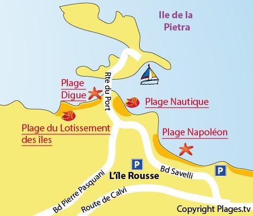 Plan de la plage du lotissement des Iles - Corse - Ile Rousse