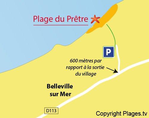 Plan de la plage du Pretre à Belleville sur Mer