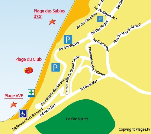 Map of VVF Beach in Anglet