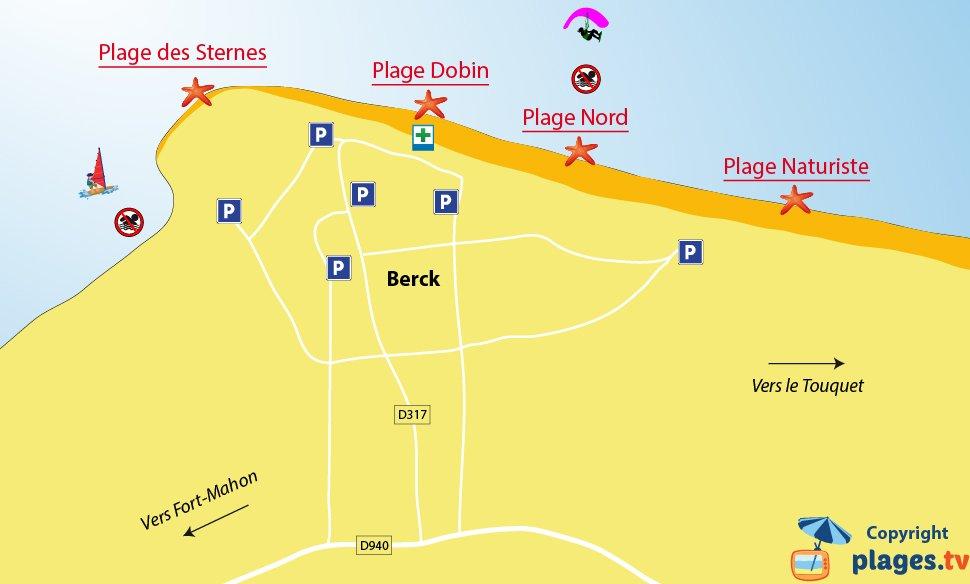 Plan des plages de Berck