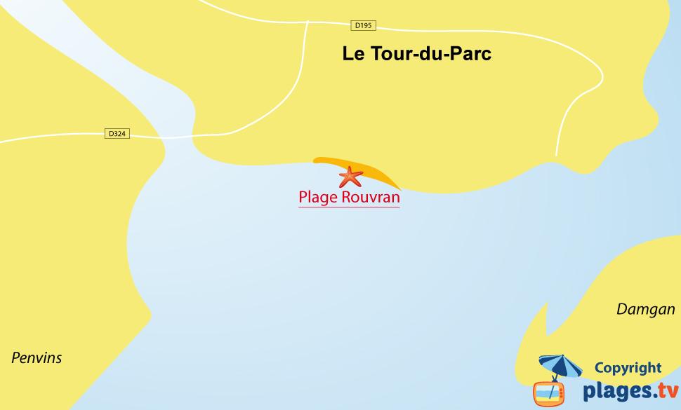 Plan des plages Le Tour du Parc en Bretagne
