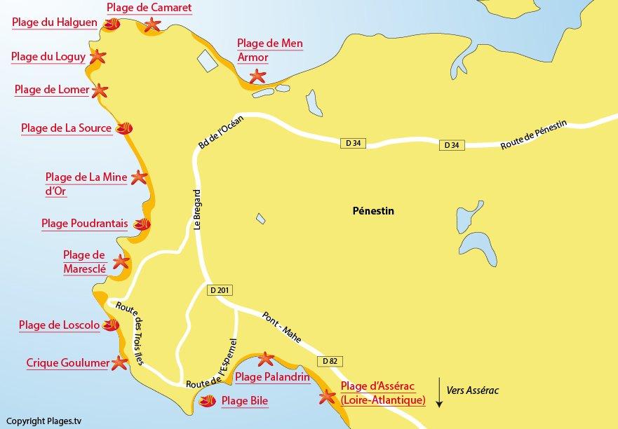 Plages Pénestin (56)   Station balnéaire de Pénestin   Morbihan