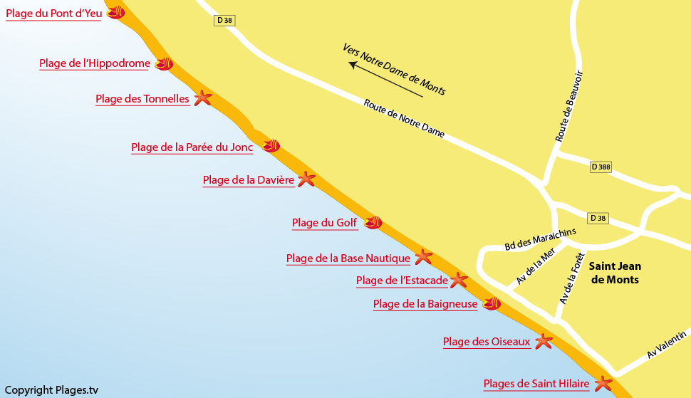 Plages saint jean de monts 85 station baln aire de - Saint jean de monts office de tourisme ...