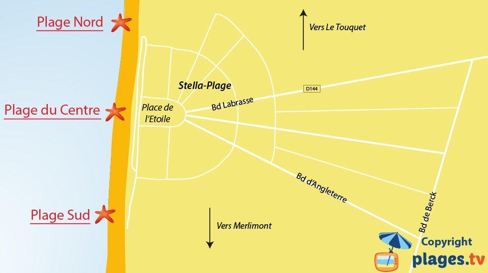 Plan des plages de Stella dans le Nord