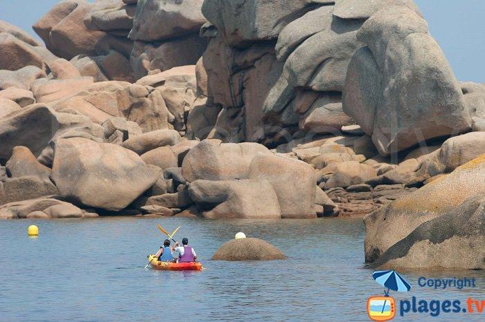 Ploumanach à kayak