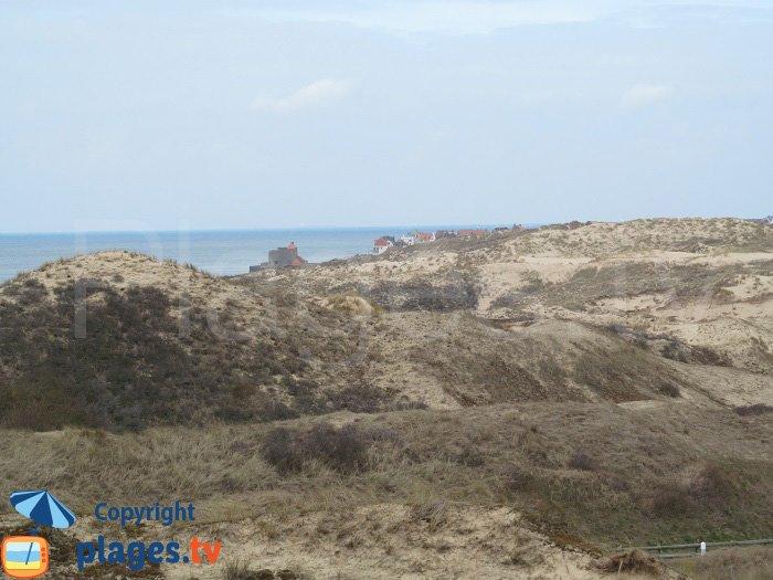 Point de vue sur Ambleteuse et les dunes