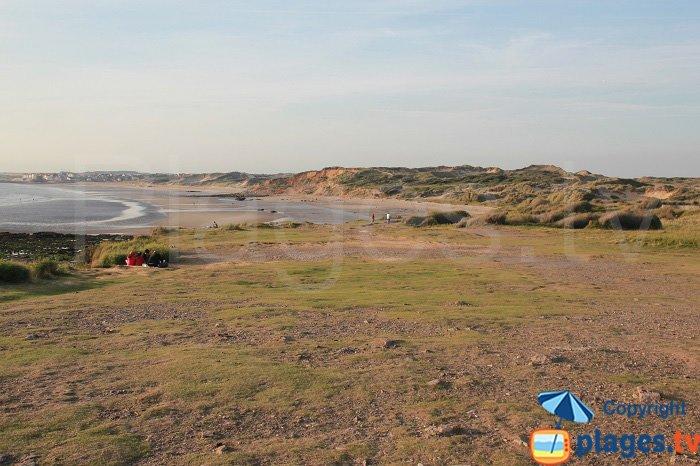 Vue sur les dunes de la Slack et sur Ambleteuse depuis la pointe aux oies