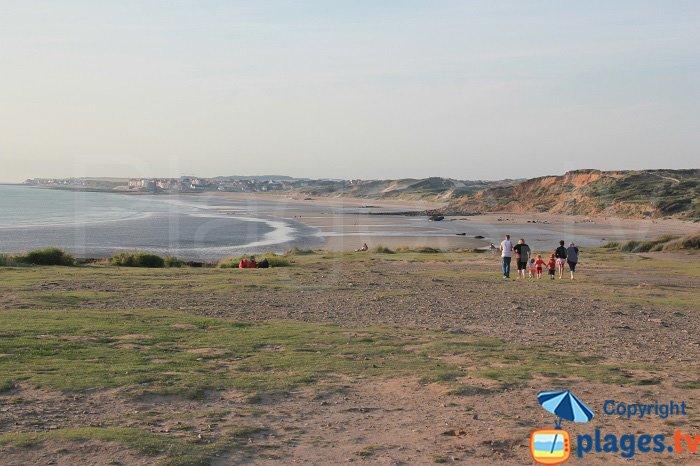 Wissant et sa plage depuis la pointe aux oies