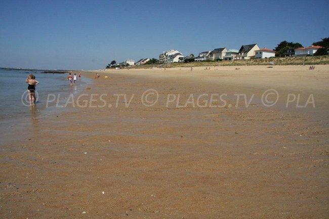 A beach in Pornichet
