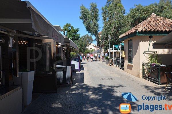 Place des Armes à Porquerolles: l'artère touristique