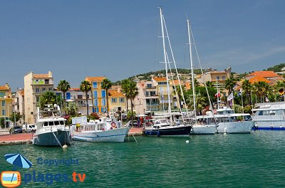 Harbor of Bandol in France