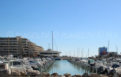 Port de Carnon-Plage dans l'Hérault