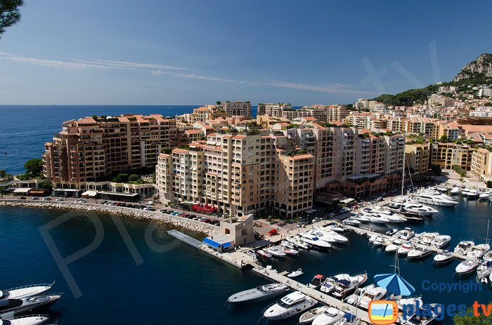 Fontvieille port in Monaco