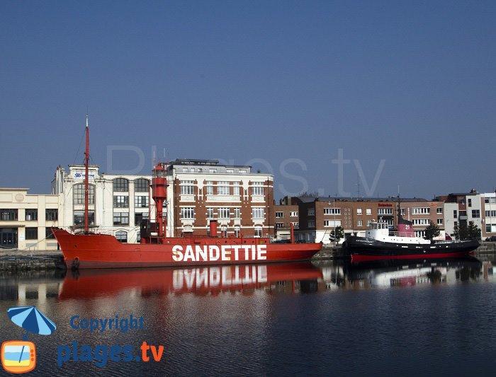 La Sandettie dans le port de Dunkerque