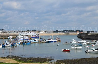 Port of Quiberon in France
