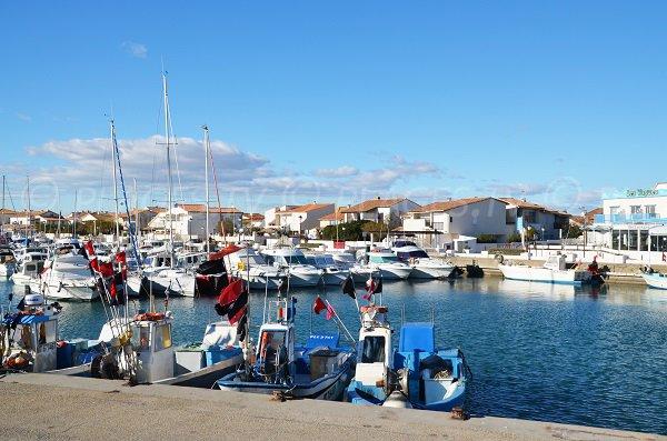 Here is the port of Saintes Maries de la Mer