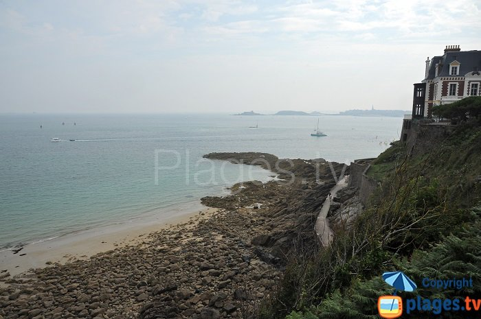 Cove of Port Salut in Dinard - France