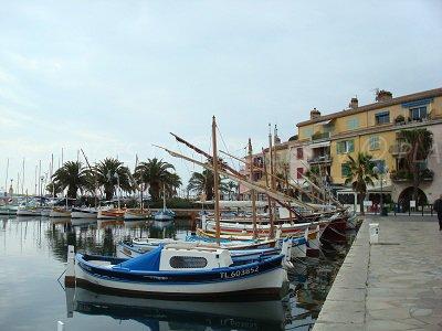 Port of Sanary sur Mer in France