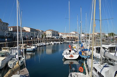 Port of Saint Martin de Ré in France