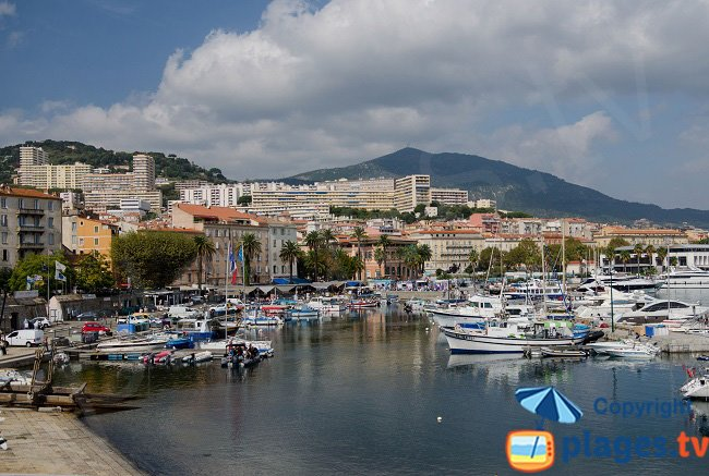 The harbour from the port to the Citadel - Ajaccio