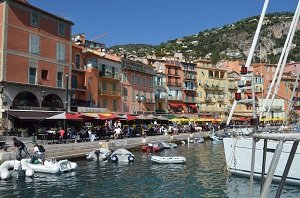 Harbor of Villefranche sur Mer in France