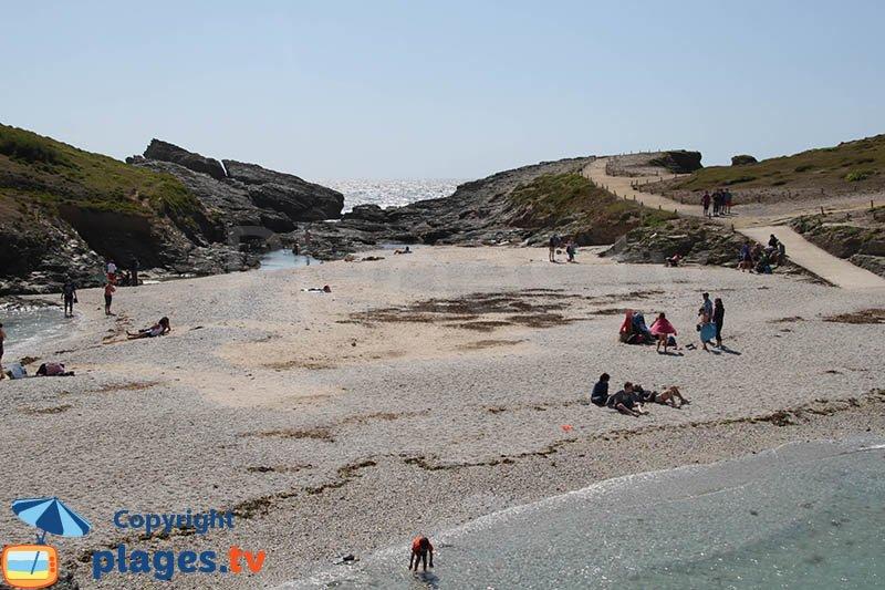 Pointe des Poulains avec sa plage
