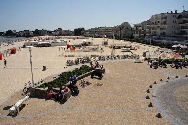 The beach in the centre of Le Pouliguen