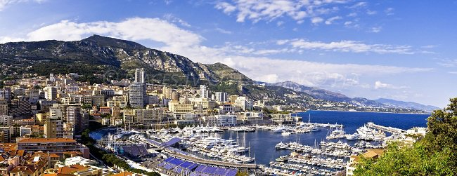 Port of Monaco and view on the coast