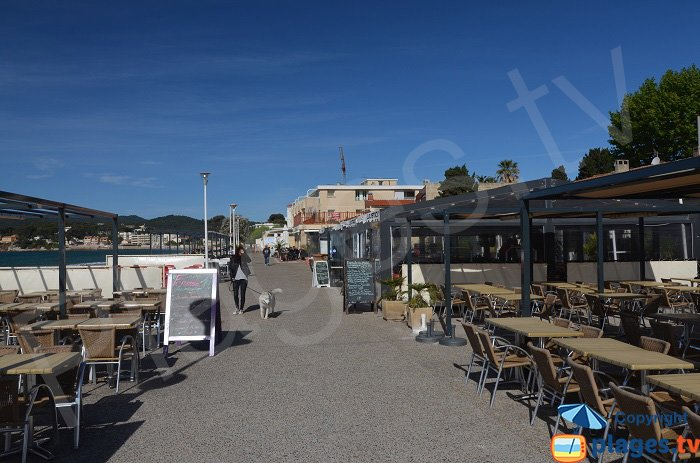 Restaurants along the Sablettes beach - La Seyne sur Mer