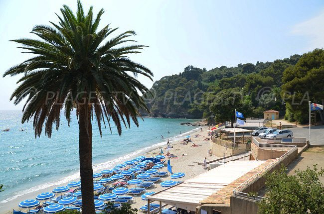 Beach in Rayol Canadel in France