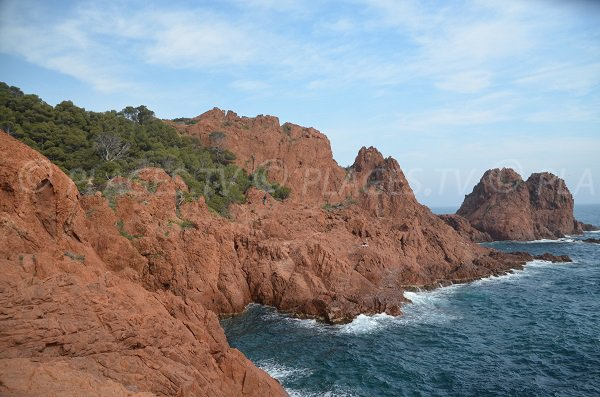 Photo of rocks in Dramont (St Raphael)