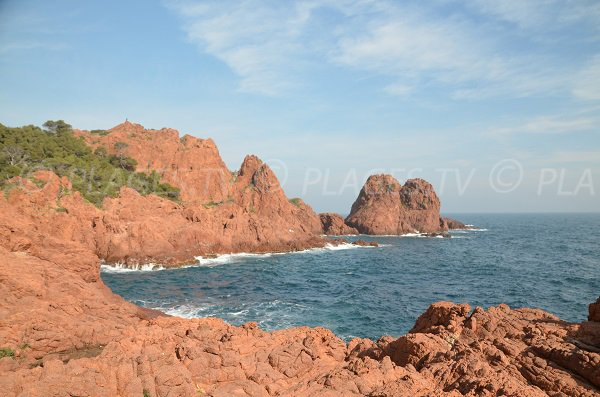 Naturist beach of Dramont in Esterel - Saint-Raphael