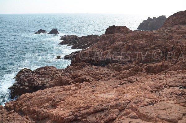 Rocks in Dramont - France