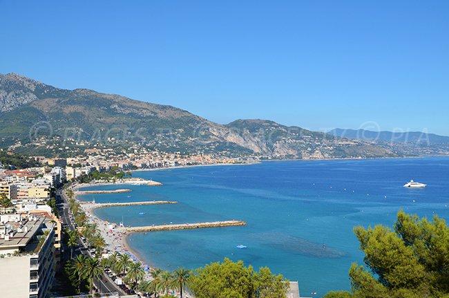 Baie de Roquebrune Cap Martin en direction de Menton