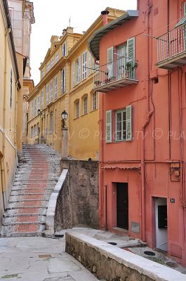 Old city of Menton in France