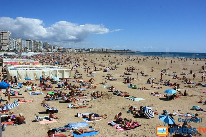 Les Sables d'Olonne and its beach - France