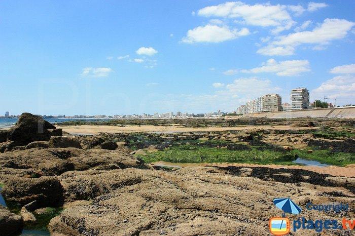Les sables d'Olonne vue depuis la plage de Château d'Olonne