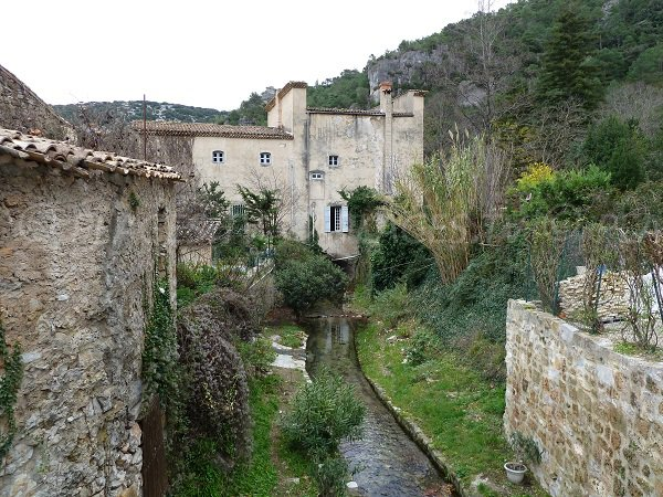 The village of St Guilhem le Désert in France