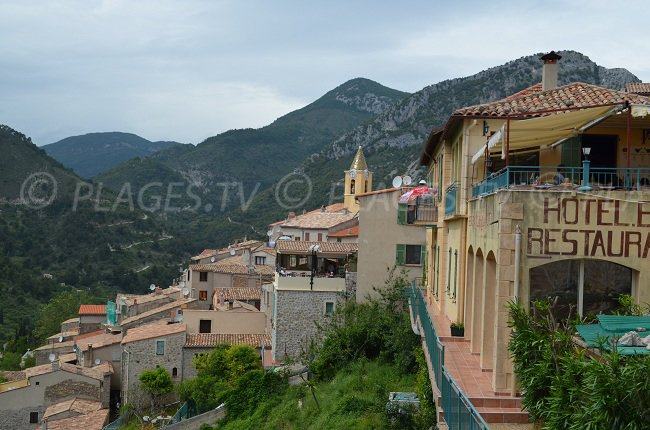 Village of Sainte Agnes nearly to Menton in France