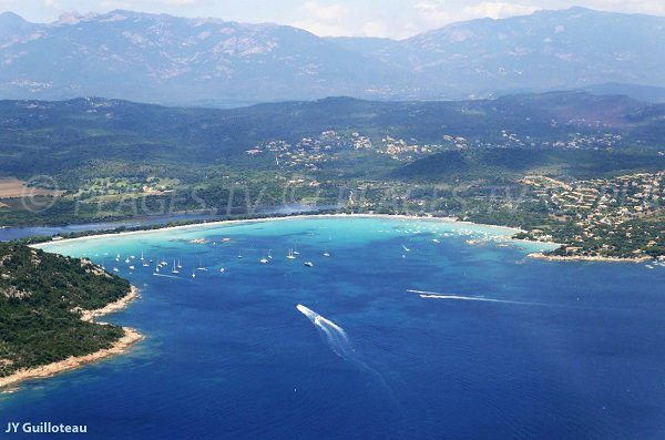Santa Giulia Beach - aerial view - France
