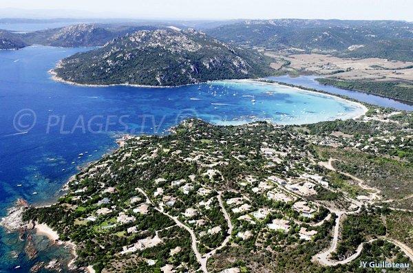 Santa Giulia aerial view - Corsica - Porto-Vecchio