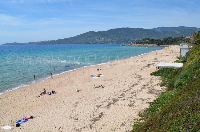 Grande plage de Santana à Sagone